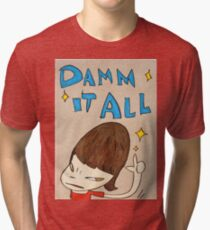 Yoshitomo Nara - Damn It All Tri-blend T-Shirt