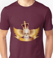 Skull with Crown and WIngs Illustration Unisex T-Shirt