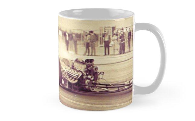 'Drag Racer Burnout' Mug by Tasty Clothing