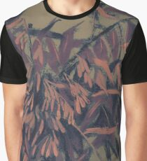 Ash-tree, floral art, olive, taupe & blush Graphic T-Shirt