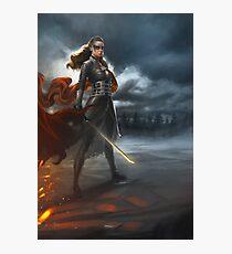 To War: Commander Lexa Photographic Print
