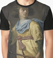 Portrait of a Young Man with a Javelin and a Hunting Horn, Peter Danckerts de Rij, 1635 Graphic T-Shirt