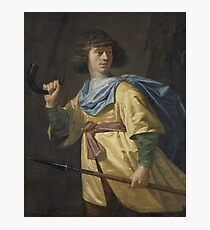Portrait of a Young Man with a Javelin and a Hunting Horn, Peter Danckerts de Rij, 1635 Photographic Print