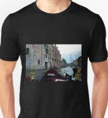 5 June 2017 Gondola ride on a canal in Venice, Italy Unisex T-Shirt
