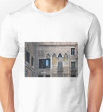 Building from Venice, Italy with arched windows and brick wall Unisex T-Shirt