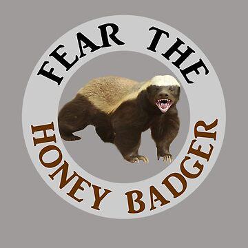 Fear Indian Honey Badger Predator Animal  by rubina