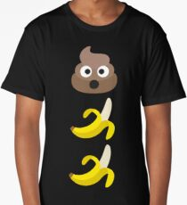 Shit is bananas ~ Emoji Long T-Shirt