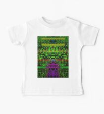 Abstract glitch green black Baby Tee