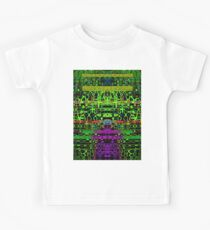 Abstract glitch green black Kids Clothes