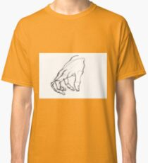 Drawing illustration of hand. Anatomical sketch.  Classic T-Shirt