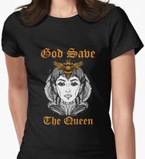 God Save The Queen Bee Shirt Womens Fitted T-Shirt