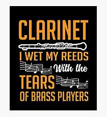 Clarinet Shirt Photographic Print