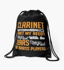 Clarinet Shirt Drawstring Bag