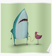 Shark and friend Poster