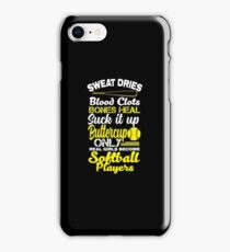 Only Real Girls Become Softball Players Shirt iPhone Case/Skin