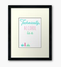 Alcohol is a Solution Framed Print