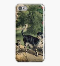 Pussy  Return , Currier & Ives American, active New York, 1857-1907 iPhone Case/Skin