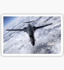 A B-1B Lancer flies over the Nevada and Utah region. Sticker
