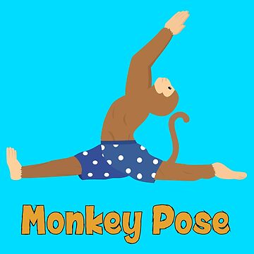 Animal Yoga Monkey Pose by ajparker