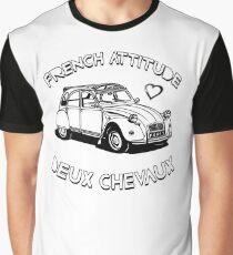 French Attitude Deux Chevaux Graphic T-Shirt