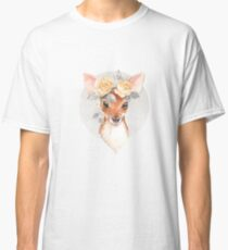 Fawn and yellow roses Classic T-Shirt