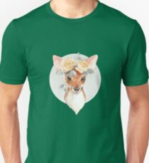 Fawn and yellow roses Unisex T-Shirt