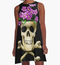 Skull vase .....with bee A-Line Dress