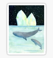 Cool whales on Antarctica Sticker