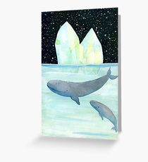 Cool whales on Antarctica Greeting Card