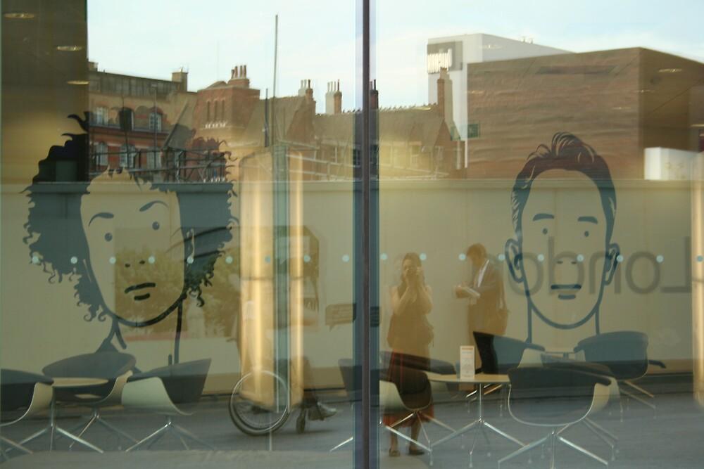 Window Reflection Self-Portrait  by Jannaya