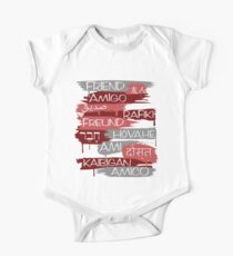 Friends From Other Ends - Red and Silver Theme One Piece - Short Sleeve