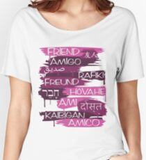Friends From Other Ends - Purps Them Women's Relaxed Fit T-Shirt