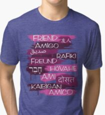 Friends From Other Ends - Purps Them Tri-blend T-Shirt