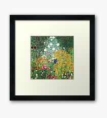 Flower Garden by Gustav Klimt Framed Print