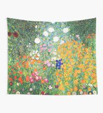 Flower Garden by Gustav Klimt Wall Tapestry