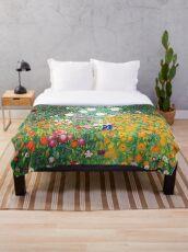 Blumengarten von Gustav Klimt Fleecedecke