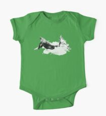 Whale Dream Black and white art One Piece - Short Sleeve