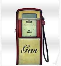Classic Gas Pump Poster