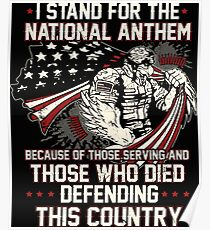 Veteran Stands For The National Anthem Poster