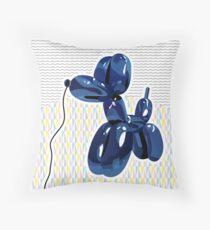 Minimal balloon dog Throw Pillow