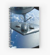 A B-2 Spirit moves into position for refueling from a KC-135 Stratotanker. Spiral Notebook