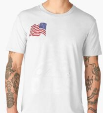 DIBS Flag On Moon Astronaut 4th of July Space T-shirt Men's Premium T-Shirt