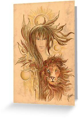 """THE LEO"" - Protective Angel for Zodiac Sign by Anna Miarczynska"
