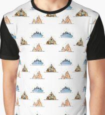 Magical Theme Park Mountain Rides Graphic T-Shirt