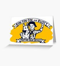 Rin Tin Tin Greeting Card