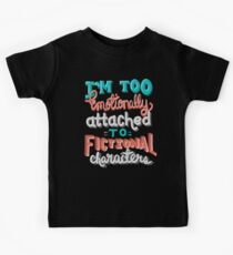 Bookworm Problems. Too Emotionally Attached To Fictional Characters. Kids Tee