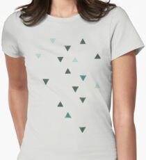 DOWN UP / olive green / seaweed / turquoise / aqua mint Women's Fitted T-Shirt
