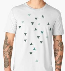 DOWN UP / olive green / seaweed / turquoise / aqua mint Men's Premium T-Shirt