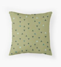 DOWN UP / olive green / seaweed / turquoise / aqua mint Throw Pillow