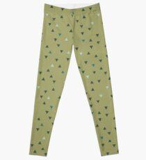 DOWN UP / olive green / seaweed / turquoise / aqua mint Leggings